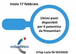 Ultimi posti disponibili per il corso per il patentino per acquistare e utilizzare prodotti fitosanitari